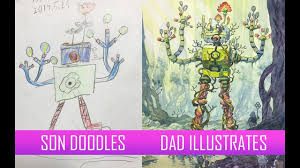 Father And Sons Design Workshop Artist Father Turns Sons Original Character And Creature