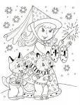 Раскраска на зимнюю тему для малышей