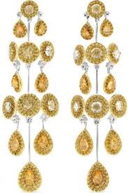 yellow sapphire earrings one size gold