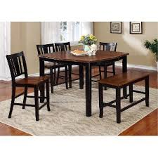 height of dining table bench. clearance black and cherry 6 piece counter height dining set with bench - dover of table o