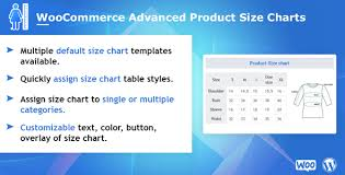 Woocommerce Advanced Product Size Charts