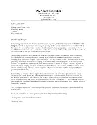 How To Write A Internship Cover Letter 10 Ideas Collection