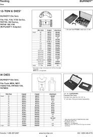 Burndy Hypress Die Chart 88811 Catalog