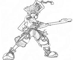 Small Picture Sora Fighting Skills Coloring Page NetArt