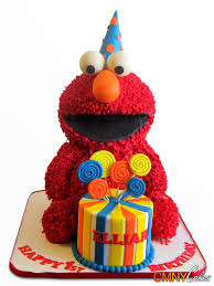 Red Elmo Birthday Cake Pictures Of Elmo Birthday Cakes