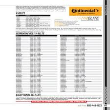 Continental V Belt Size Chart Best Picture Of Chart