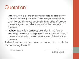 Direct Quote Vs Indirect Quote Forex What Are Quotes Pips And