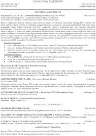 note investment banking resume example