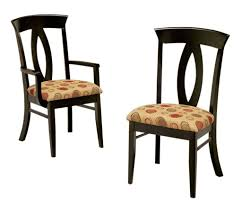 dining room black chairs with fl cushion