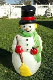 plastic outdoor snowman decorations