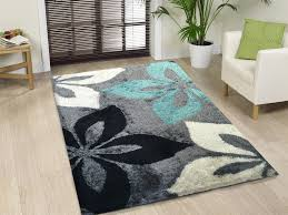 rug popular runners cleaners on grey black fl area stunning