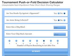 How To Use The Push Fold Calculator Exceptional Poker
