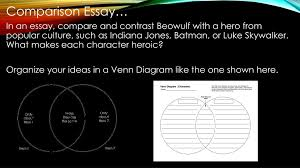 Compare And Contrast Beowulf And Grendel Venn Diagram Ppt Beowulf Powerpoint Presentation Id 2389288