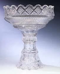 cut glass punch bowl stand star pattern designs