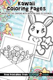 Make your world more colorful with printable coloring pages from crayola. Kawaii Printable Coloring Pages Woo Jr Kids Activities