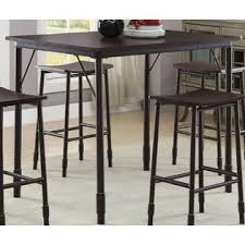 industrial inspired furniture. Contemporary Casual Coaster 5 Piece Counter Height Dinettes Industrial Inspired In Black -150016 Dining Room Furniture