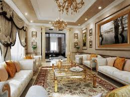 White And Gold Living Room Interior Design Living Room Classic Living Room Design Dubai