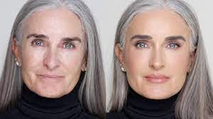 natural look for over 50 skin