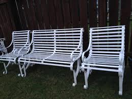 White Metal Outdoor Furniture