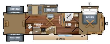 2018 jay flight bungalow 40bhqs floorplan