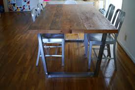 Metal Top Dining Tables Sheet Metal Top Dining Table Google Search Industrial Chic