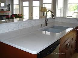 stone kitchen countertops. Composite Quartz Countertops-Frosty Carrina Caesar Stone Kitchen Countertops