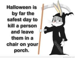funny joke picture with halloween quote