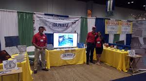 painting contractor marketing at trade shows omar his lovely wife and staff