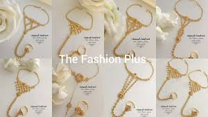 Gold Ring Bracelet Designs Gold Rings Chain Bracelets Panjangla Designs With Light Weight
