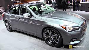 infiniti q50 2015. 2015 infiniti q50 awd exterior and interior walkaround new york auto show youtube