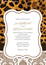 Free Invitation Templates Download Free Pdf Template Download Leopard Print Wedding Invitation