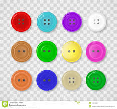 Blue Button Designs A Collection Of Buttons For Clothes Of Different Colors And