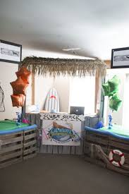 Information Counter decoration idea for Ocean Commotion VBS 2016