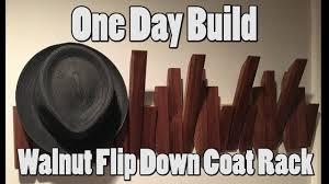 Flip Coat Rack Walnut Flip Down Coat Rack YouTube 93