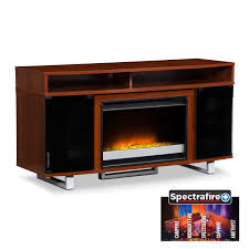entertainment furniture pacer 56 contemporary fireplace tv stand cherry