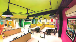 Colorful office space interior design White Good Colors For Office Space Its Color Fest At One Cannot Help Notice The Use Good Colors For Office Space New York Spaces Magazine Good Colors For Office Space Office Space Color Schemes Best Paint