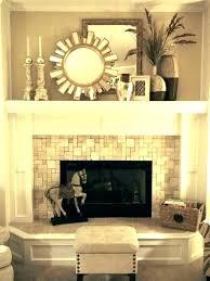 fireplace mantel decor brick ideas wood red