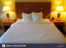 garden inn motel. Maine Freeport Hilton Garden Inn Motel Hotel Guest Room Queen-size Bed Made Pillows Lamps Tables Headboard