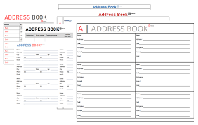 Address Book Template Free Free Address Book Template For Excel Printable Editable