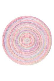 entracing pink braided rug