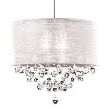 living pretty crystal drum shade chandelier 21 with crystals new lite silk silver ball and on