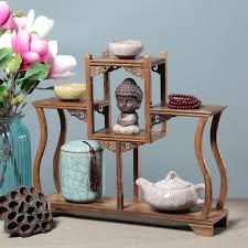 Wooden Display Stands For Figurines Antique Imitation Wenge Rosewood Display Stand Home Office 69