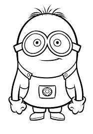 Minion Coloring Pages To Print Minions Coloring Pages Easy Drawing