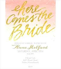 Bridal Shower Invitation Templates Word Or Free Template Invitations