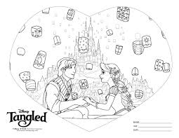 Small Picture Rapunzel Coloring Page Black White Coloring kids Pinterest