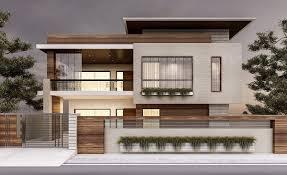 Exterior Wall Designs Photos Renders Exterior On Behance Facade House House Front