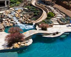 inground pools with waterfalls and hot tubs. Swimming Pool Features Inground Pools With Waterfalls And Hot Tubs