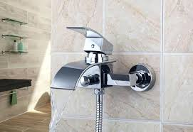 wall mounted bath faucets image of wall mount bathtub faucet in brushed nickel modern wall mount tub faucet with hand shower