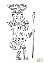 Small Picture Aztec Warrior coloring page Free Printable Coloring Pages