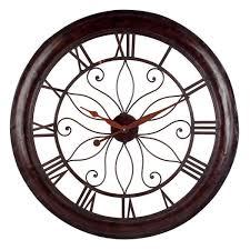 open back rust wall clock